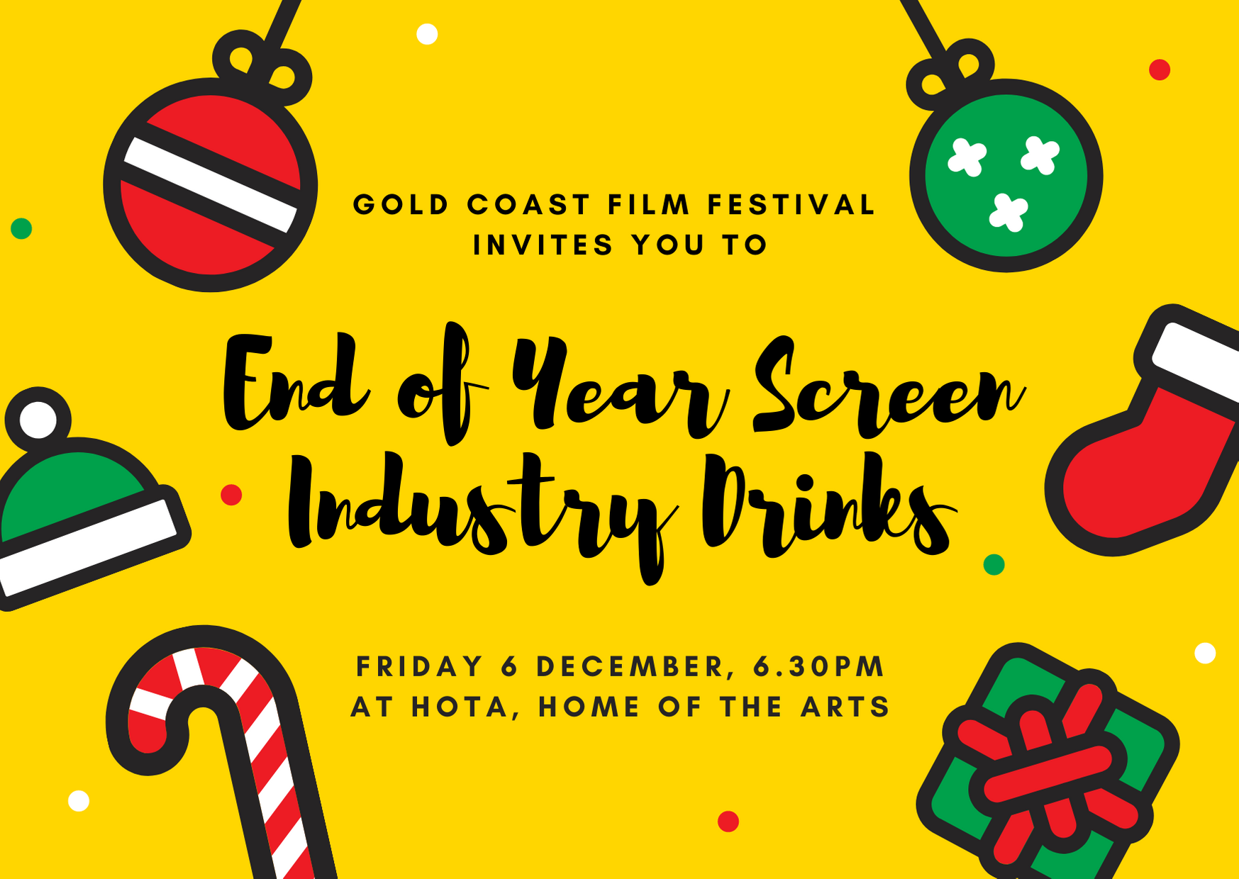 END OF YEAR SCREEN INDUSTRY DRINKS